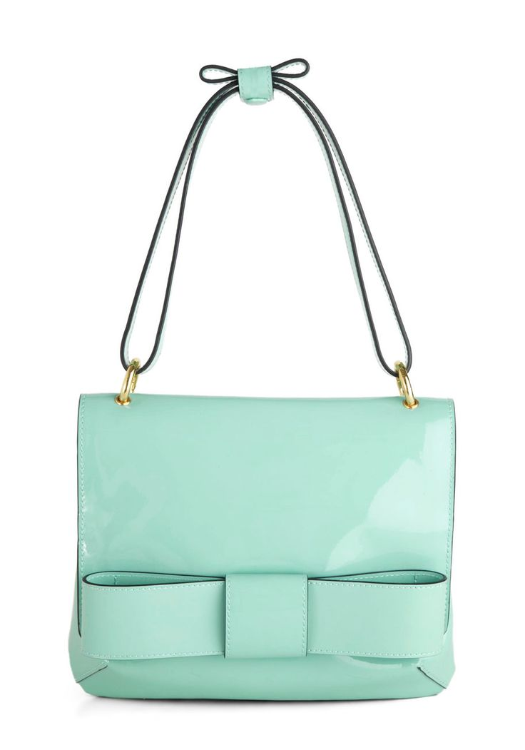 mint bow bag #socute