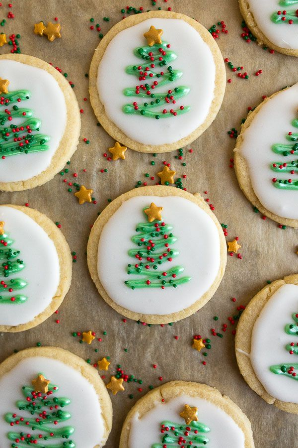 Christmas Sugar Cookie Cut Outs Decorated To Look Like Christmas
