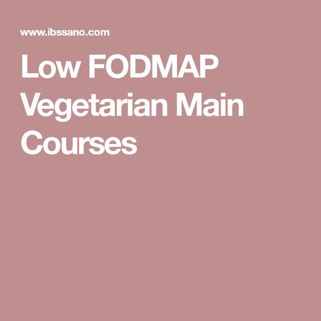 Low FODMAP Vegetarian Main Courses