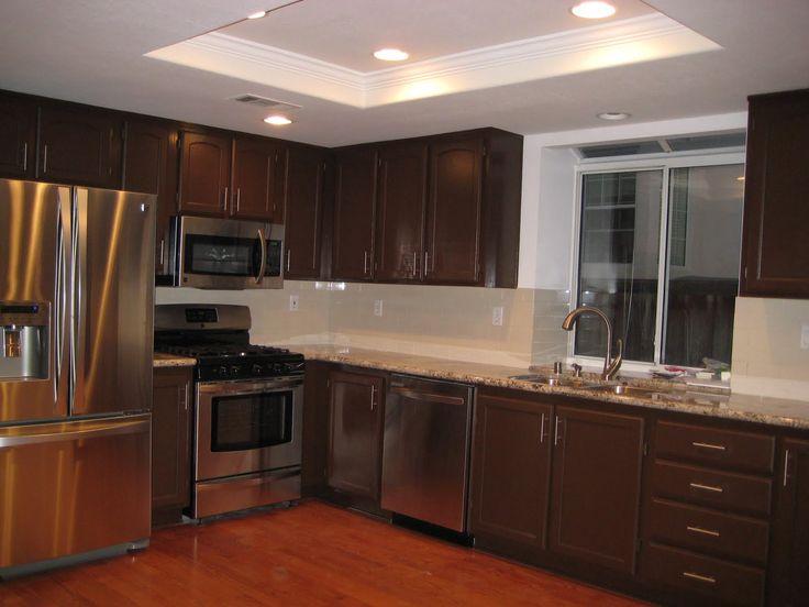 Dark Wood Kitchen Backsplash 22 best belmont kitchen images on pinterest | wolves, dark