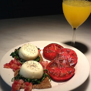Toast With Sauteed Tomatoes, Spinach, And Poached Egg Recipe ...