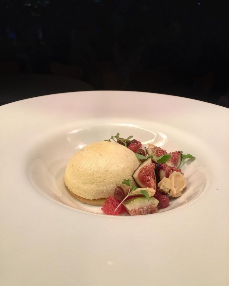 """93 Likes, 1 Comments - benji pereira (@benjipereira) on Instagram: """"Baked stracciatella cheesecake w/ sable, melon, candied almond, Lilly pilly and fresh fig #cheese…"""""""