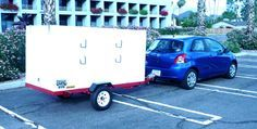 My camper is very simple in nature: Just a 5/8″ BC plywood box on a Harbor Freight 4′ x 8′ utility trailer.