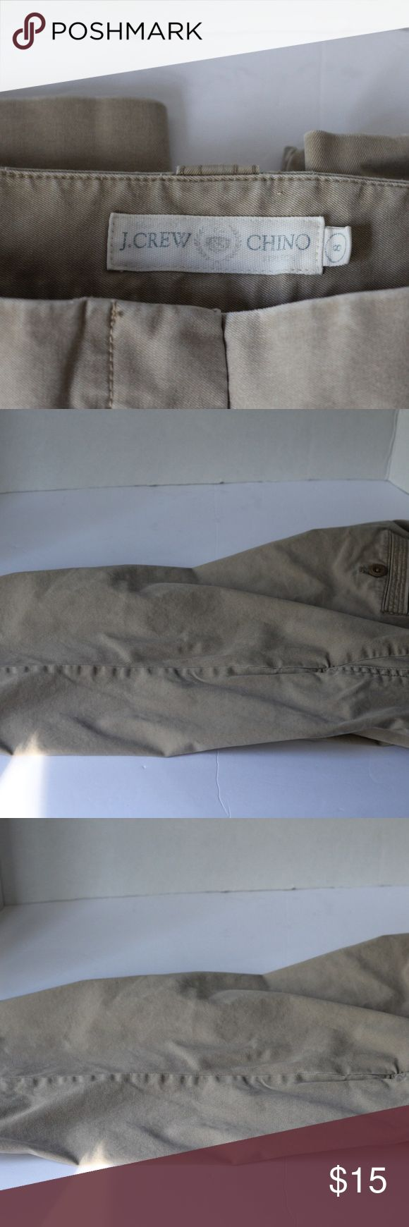 """J. Crew Chino Khaki Capris Size 8 Pre-Loved J. Crew Khaki Chino Capris. Size 8. 97% Cotton, 3% Spandex.  Inseam is approx. 17"""" Approx 27"""" from waist to hem Waist is approx. 16.5"""" when laying flat. J. Crew Pants Capris"""
