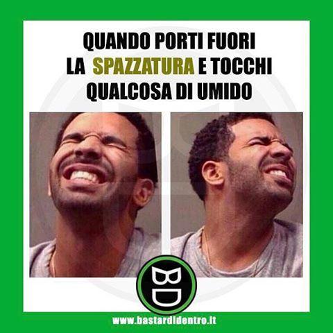 Tagga i tuoi amici e #condividi #bastardidentro #sacco #umido #drake www.bastardidentro.it