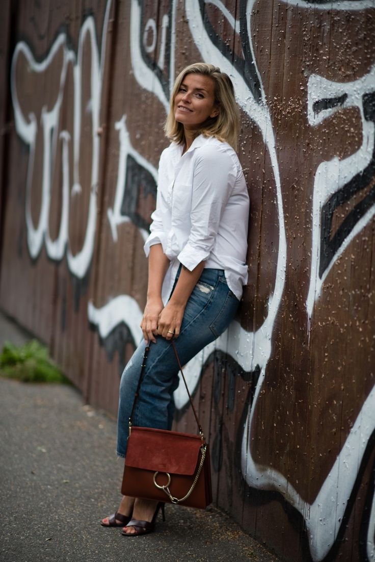 Style...Janka Polliani // whiteshirt and denim outfit