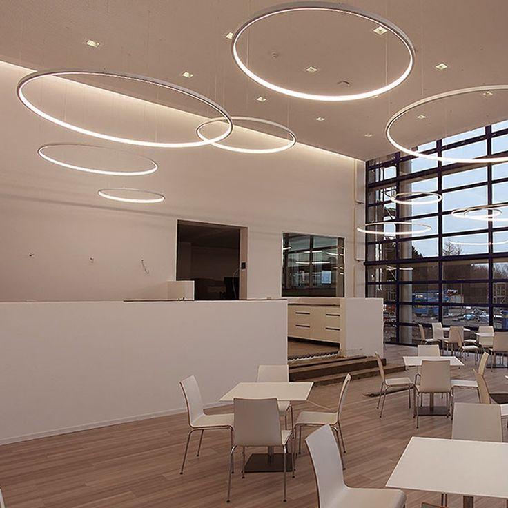 Skapetze Ring Xl Led Hangeleuchte O 100 Cm Chrom Innenleuchten Hangeleuchten Chrom Cm Hangel Arredamento Design Ufficio Illuminazione