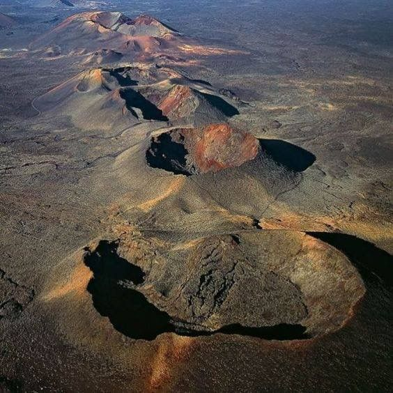 Aerial view of Lakagígar (Craters of Laki), a volcanic fissure in the south of Iceland.  Geology Wonders