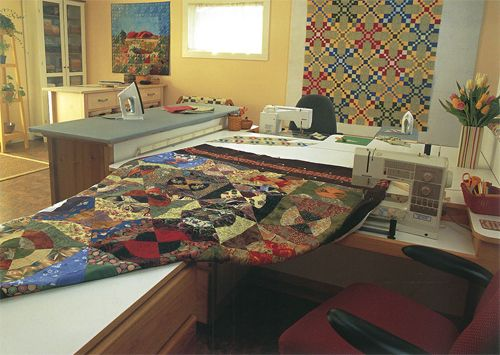 Does your quilting space need a makeover whether you sew for Kitchen quilting ideas