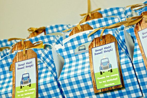 Little Blue Truck Party Favor Tags Little Blue by CrowningDetails