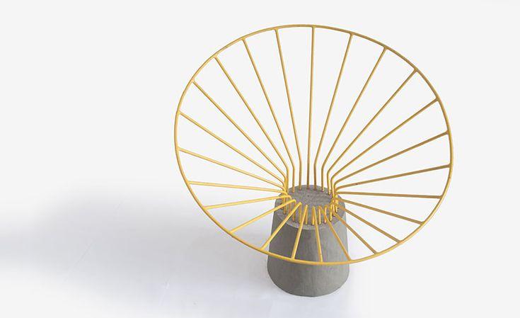 fifth column reo chair steel concrete designboom