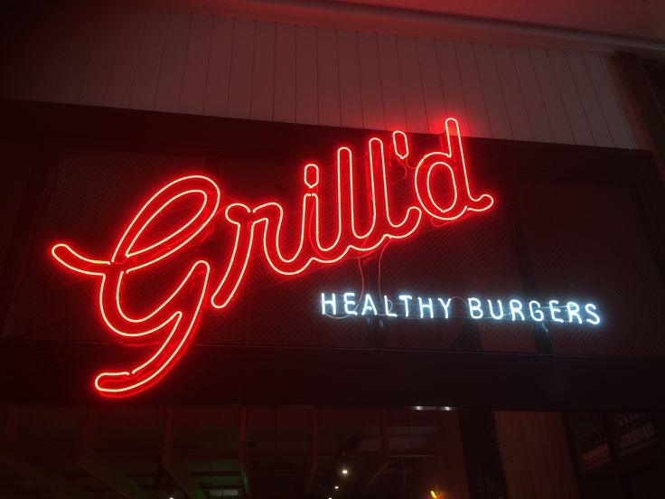Grill'd Neon Sign by Benga Designs
