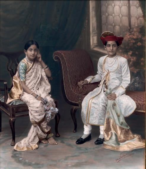 Maharajkumar Yeshwantrao Holkar and his sister Maharajkumari Manoramaraje of Indore as kids.