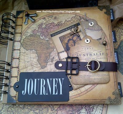 Want to do a travel scrapbook like this! Except with more color.