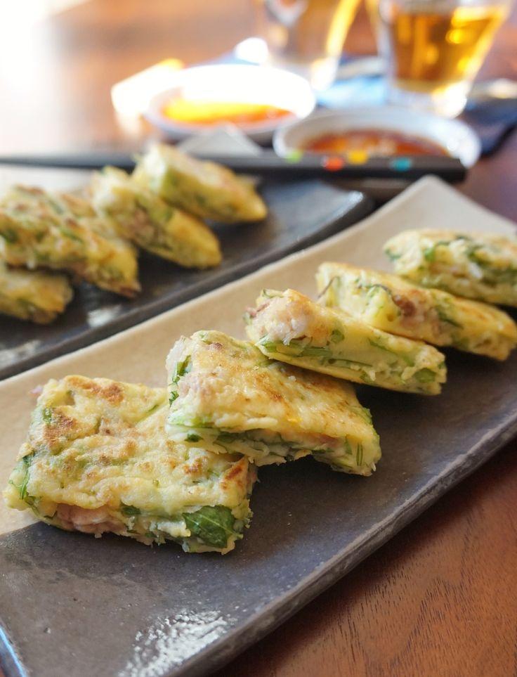水菜と豚ばら肉のチヂミ by 楠みどり   レシピサイト「Nadia   ナディア」プロの料理を無料で検索