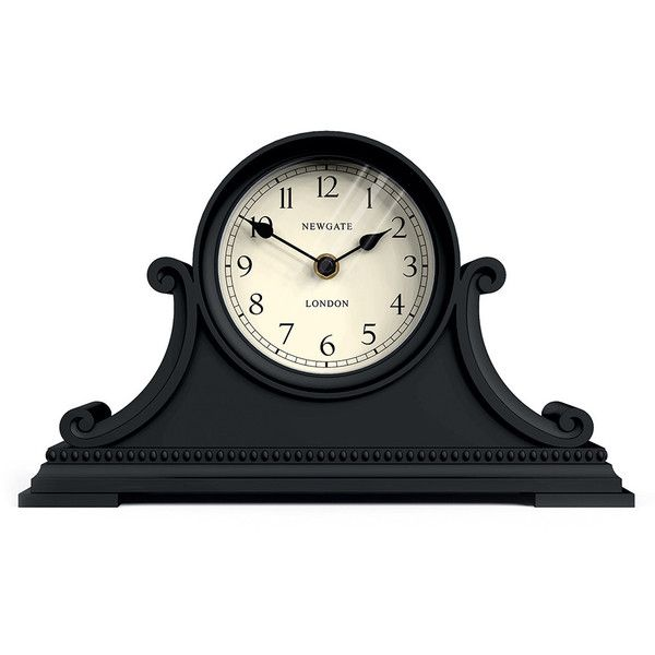 Newgate Clocks Gatekeeper's Clock - Black (€85) ❤ liked on Polyvore featuring home, home decor, clocks, black, newgate, black clock, newgate clocks, black mantle clock and black mantel clock