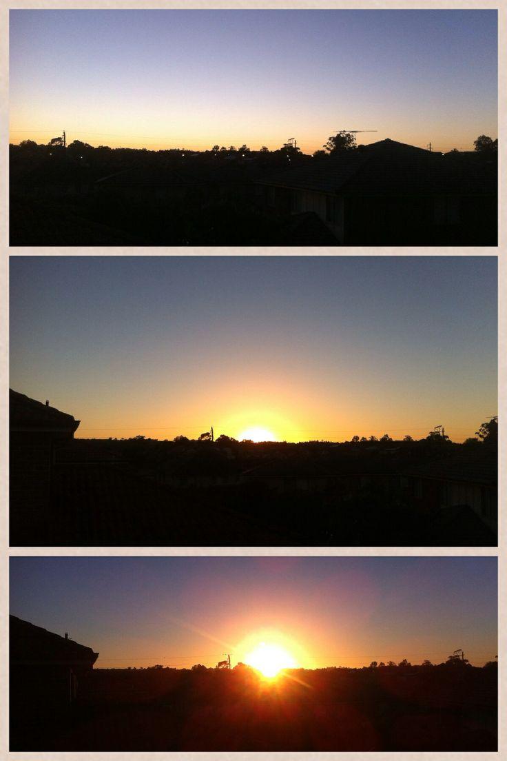 3 Picture Sunrise Collage