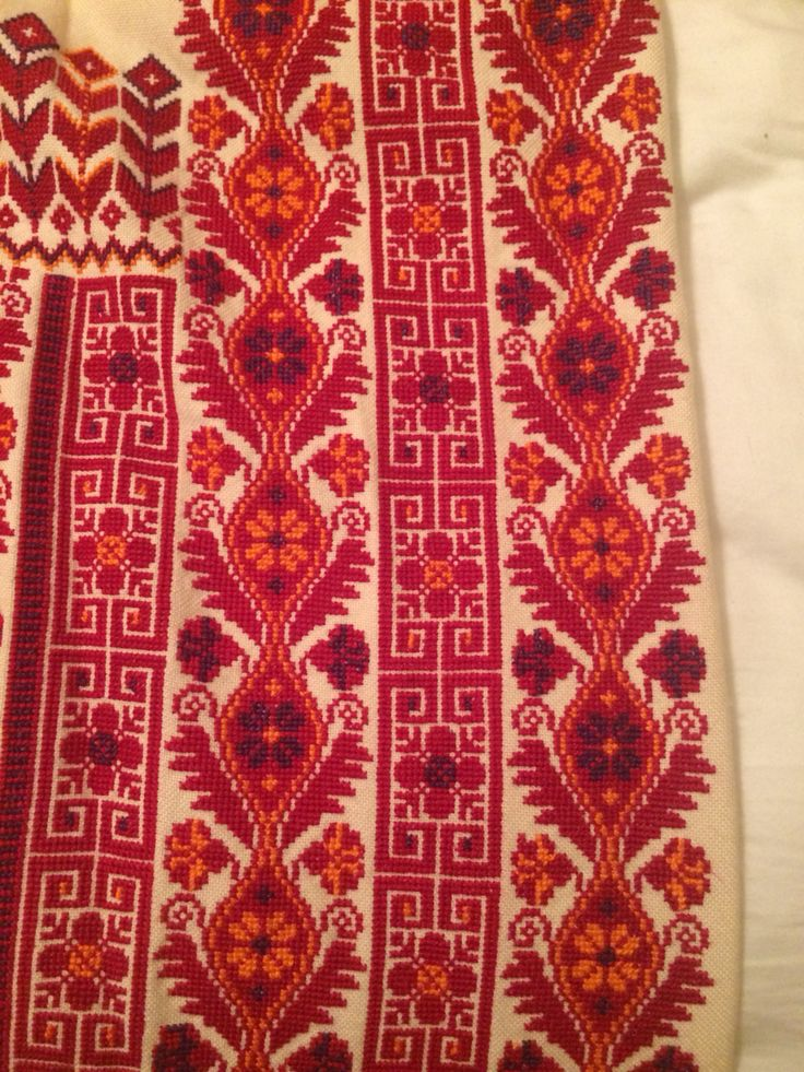 Thobe embroidery close up