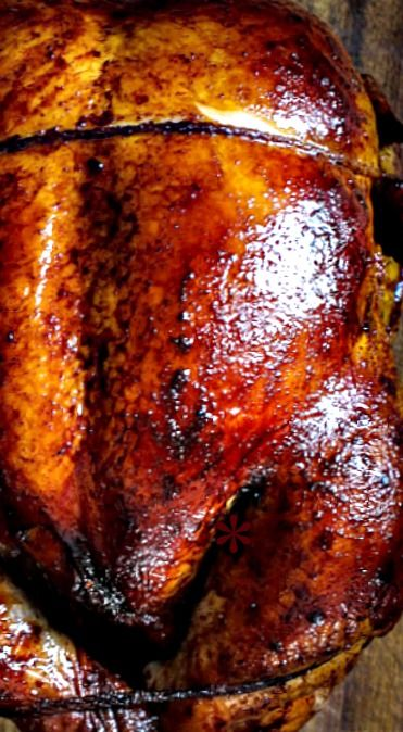 Oven Roasted Five Spice Peking Chicken - A cross between a roasted chicken & peking duck, this peking chicken recipe is for days when you have that craving for peking duck but chicken is all you have to work with.