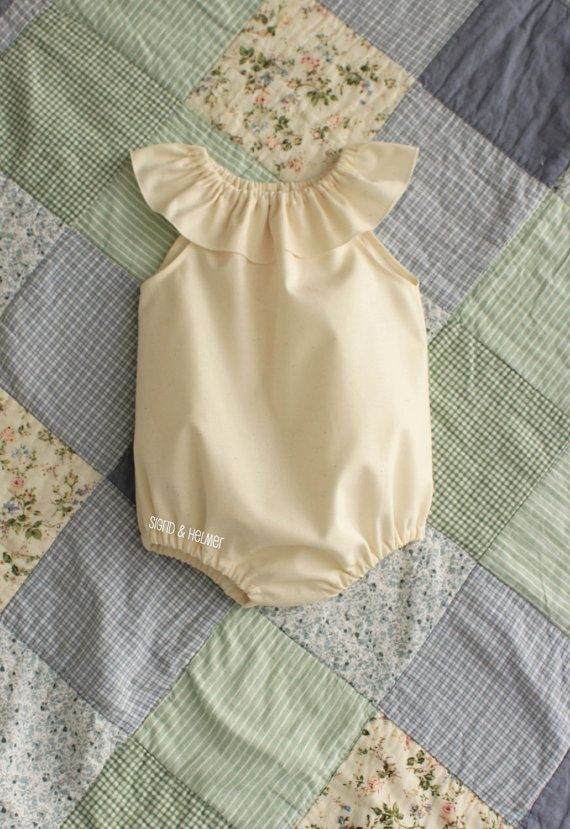 GOTS organic Baby Girls One piece Sunsuit by SigridandHelmer