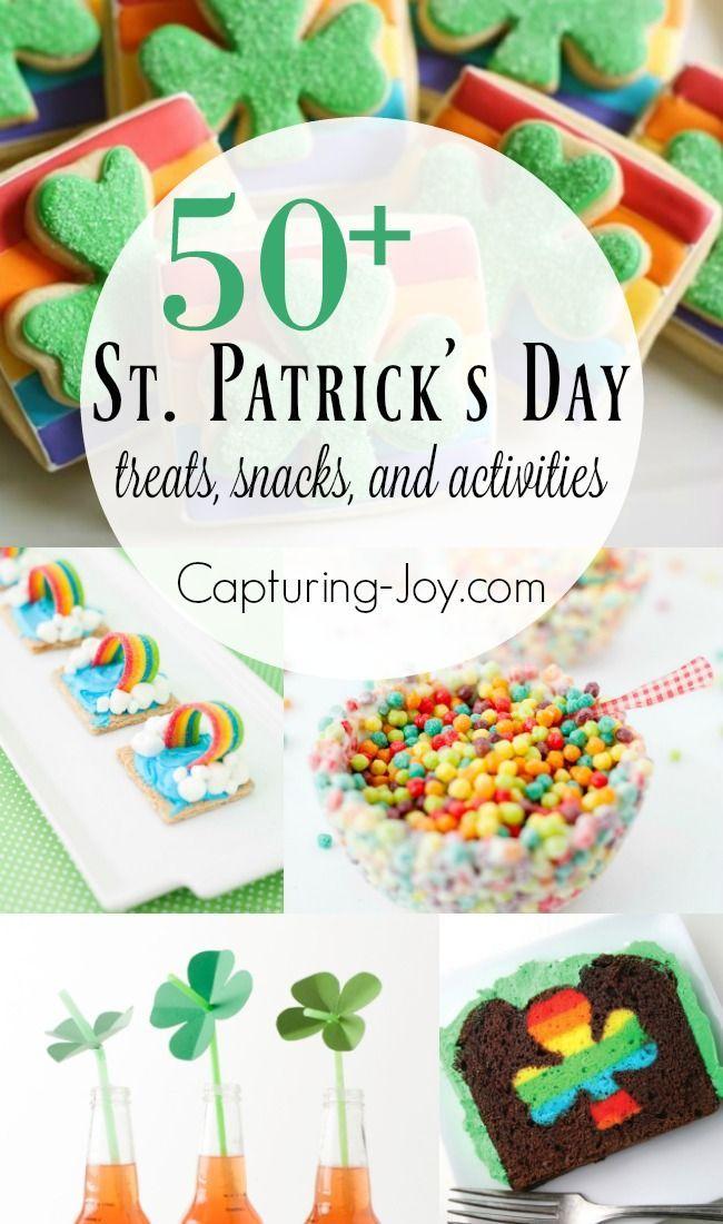 So many great St. Patrick's day treats snacks and activities! Fun rainbow treats...