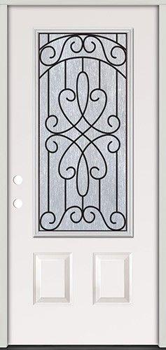 3/4 Lite Steel Prehung Door Unit #279  sc 1 st  Pinterest & 113 best Front Door images on Pinterest | Front doors Doors and ... pezcame.com