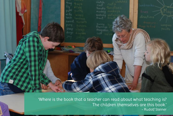 Where is the book that a teacher can read about what teaching is? The children themselves are this book.