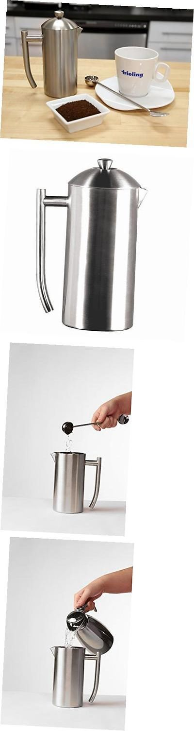 French Presses 98851: Usa Double Wall Stainless Steel French Press Coffee Maker With Patented Dual -> BUY IT NOW ONLY: $111.28 on eBay!