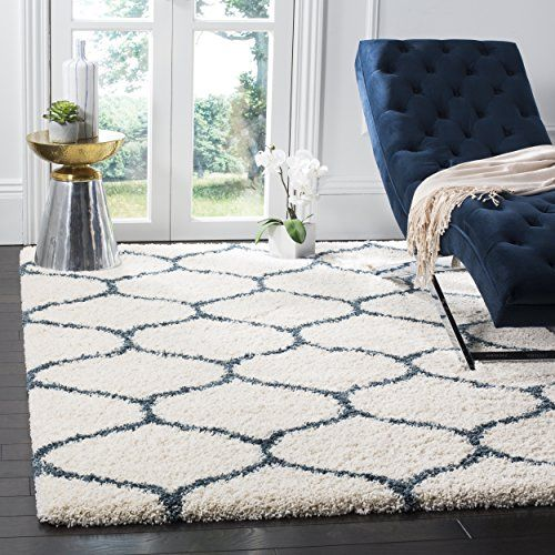 Safavieh SGH280T 6 Hudson Shag Collection Moroccan Ogee Area Rug X 9 Ivory