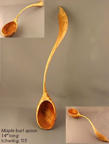 Sculptural Spoons -- sculptural spoons carved by Terry Widner