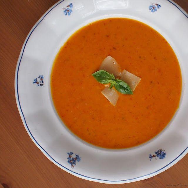 Dýňovo-bramborovo-tomatový krém