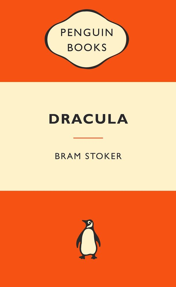 Classic Penguin book cover, designed in the typeface Gill Sans in a two/three tone layout an iconic book cover.