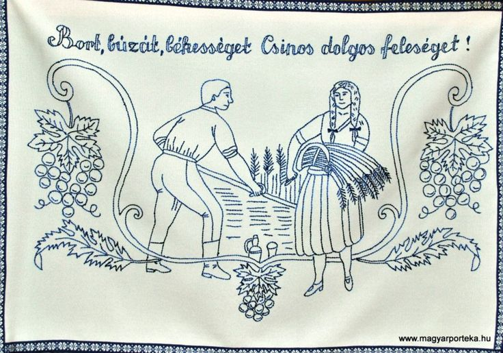 Bor, búzát... - Magyar falvédő ¤ Hungarian wall carpet