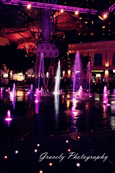 The Beautiful Place Colours Purple in Clark Quay