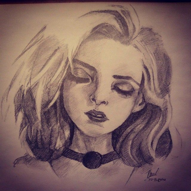 by 6B pencil