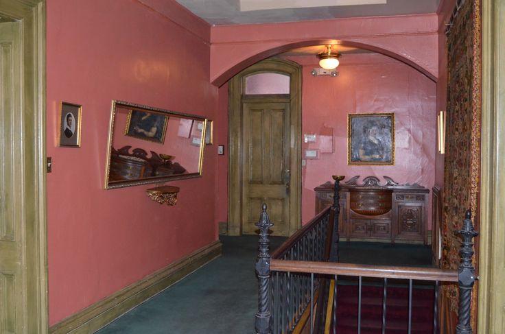 Second floor hallway at the Lemp Mansion.