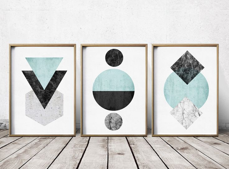 Gallery wall print set art prints abstract art prints for Modern art home decor etsy
