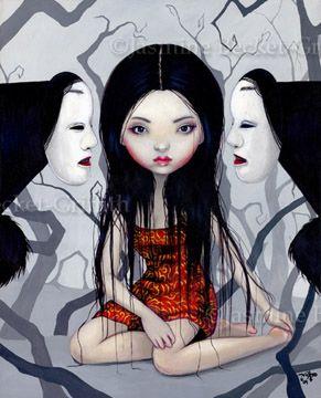 3 Fates?Ghosts Japan, Jasmine Becket Griffith, Noh Masks, Horror Art, Faceless Ghosts, Beckett Griffith, Art Prints, Jasmine Beckett, Japanese Horror