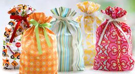 reusable cloth gift bags