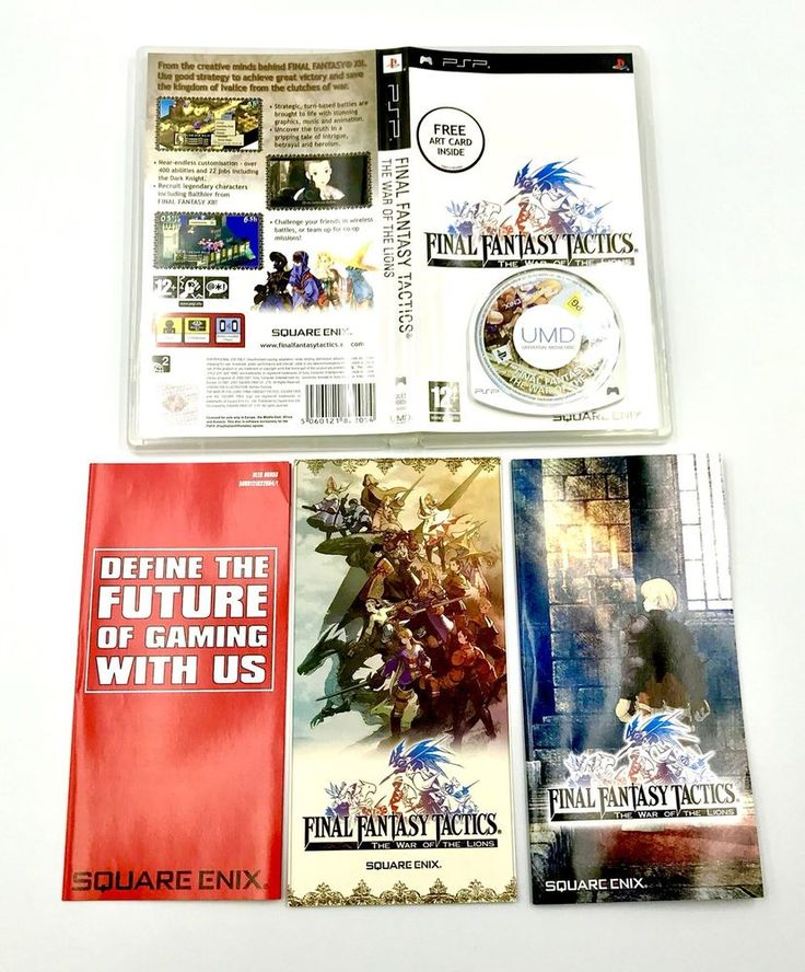 Final Fantasy Tactics The War of The Lions Sony PSP Complete Inc Art Card Rare
