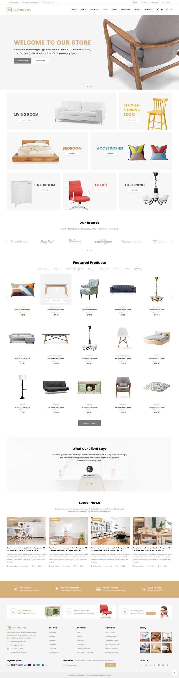 Furnihome - E-Commerce PSD Template for Furniture Store #psd #psd #furniture store • Download ➝ https://themeforest.net/item/furnihome-ecommerce-psd-template-for-furniture-store/18977292?ref=pxcr