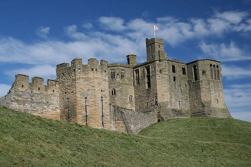 "Warkworth Castle,  Northumberland.  When the castle was founded is uncertain: traditionally its construction has been ascribed to Prince Henry of Scotland in the mid-12th century, but it may have been built by King Henry II of England when he took control of England's northern counties. Warkworth Castle was first documented in a charter of 1157–1164 when Henry II granted it to Roger fitz Richard. The timber castle was considered ""feeble"", and was left undefended when the Scots invaded in…"