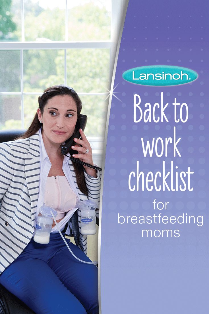 Back to work checklist for #breastfeeding mothers.