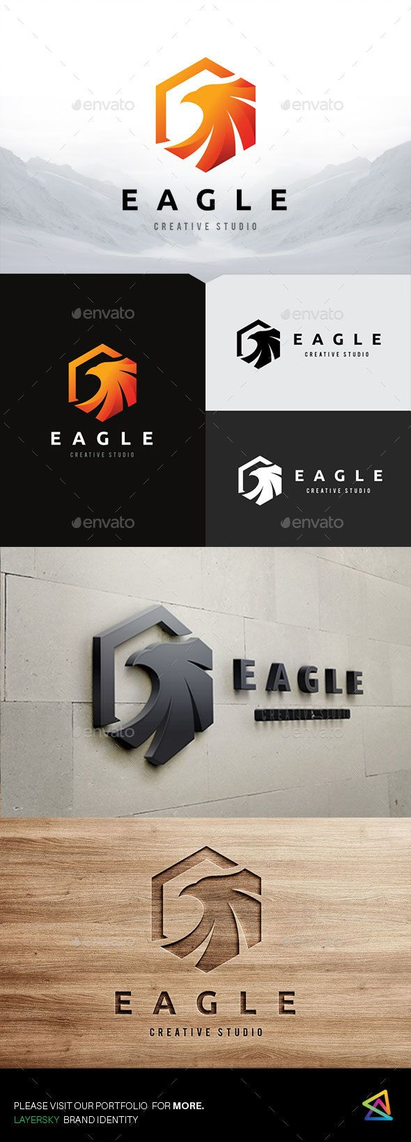 Eagle Logo — Photoshop PSD #real estate #smart • Available here → https://graphicriver.net/item/eagle-logo/19377664?ref=pxcr