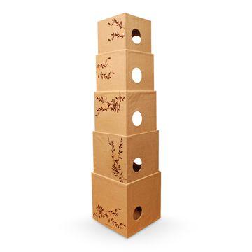 REPLUS/cat tower hemp 32130yen 様々な使い勝手に対応するボックス型のキャットタワー