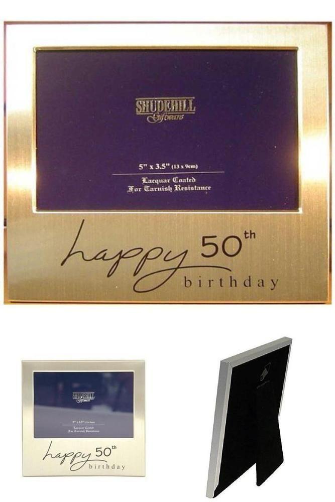 Happy 50th Birthday Photo Frame Anniversary Men Women Male Female Present UK