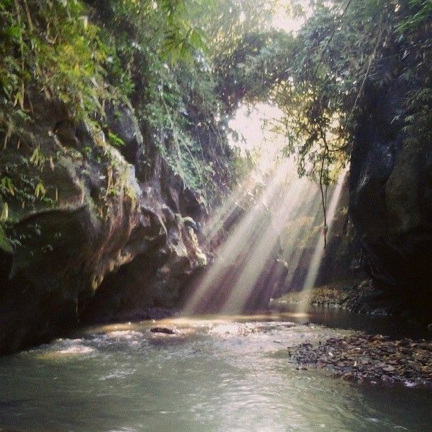 shine in the morning at grand canyon of bali