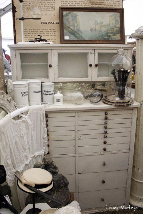 A Stunning Vintage Dental Cabinet