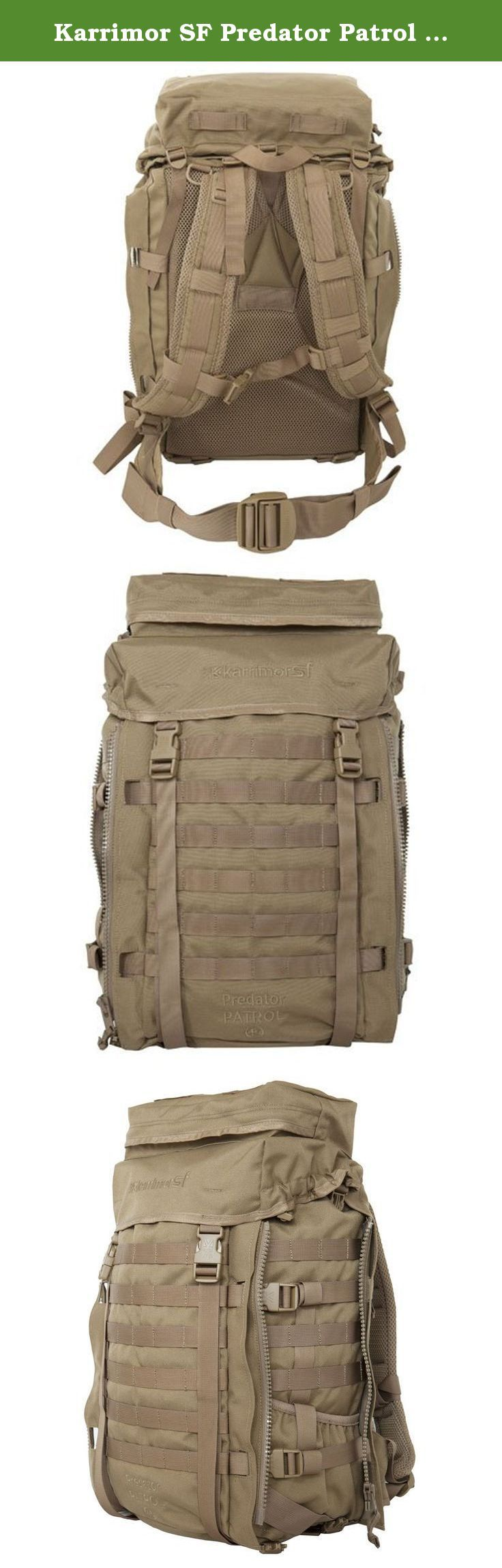 Karrimor SF Predator Patrol 45 PLCE Backpack One Size Coyote. Karrimor SF Predator Patrol 45 PLCE Rucksack - Designed to offer a versatile platform for field operations in the 21st Century the Predator Patrol 45 is based on extensive battlefield testing and includes many refinements and evolutionary improvements from previous generations. Manufactured using the highest quality materials and components the Predator Patrol 45 is designed to operate in extreme conditions and facilitate…