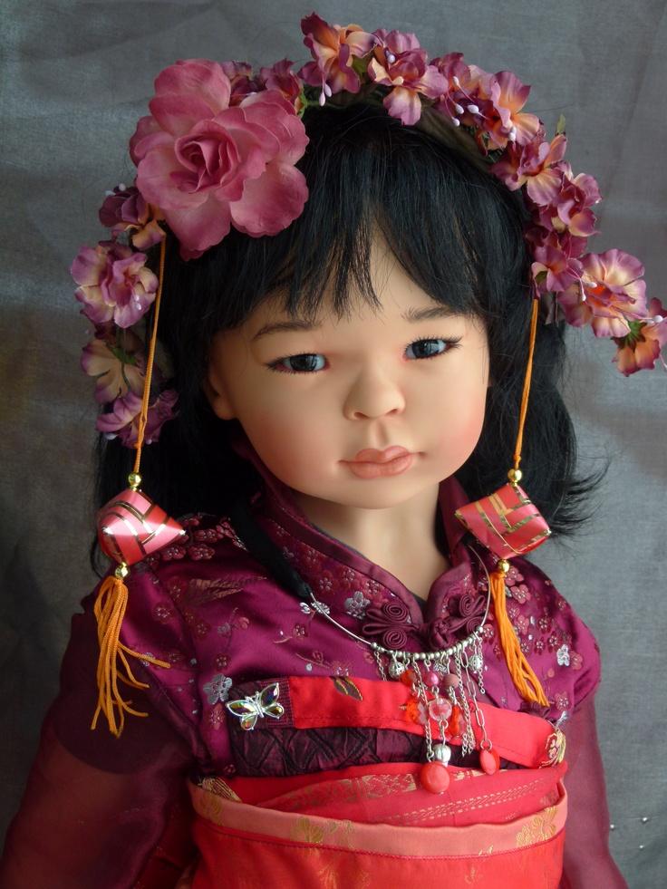 Vinyl doll, 75 cm, made in Switzerland